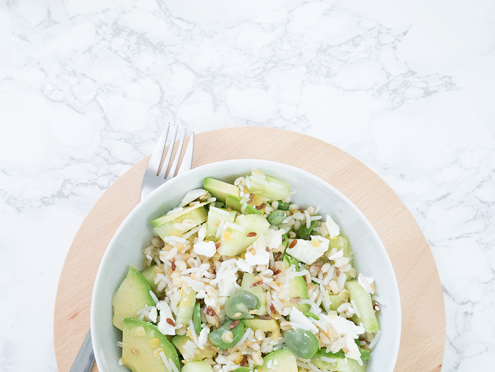 recette-feves-cereales-avocat-green-salade