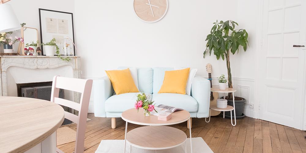 mon p tit chez moi d co du salon carnet prune blog beaut lifestyle. Black Bedroom Furniture Sets. Home Design Ideas